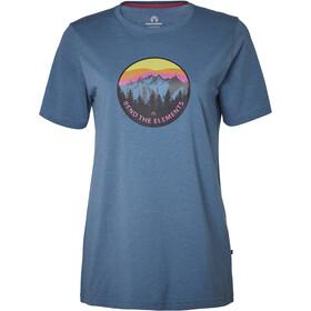 North Bend Vertical Kortærmet T-shirt Damer blå